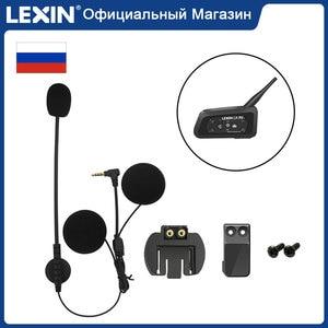 Lexin motocicleta fone de ouvido e clipe conjunto acessórios para LX-R6 bluetooth capacete interfone jack plug
