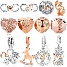 Sterling 925 Silver Infinity Love Beads Rose Gold Forever Fr
