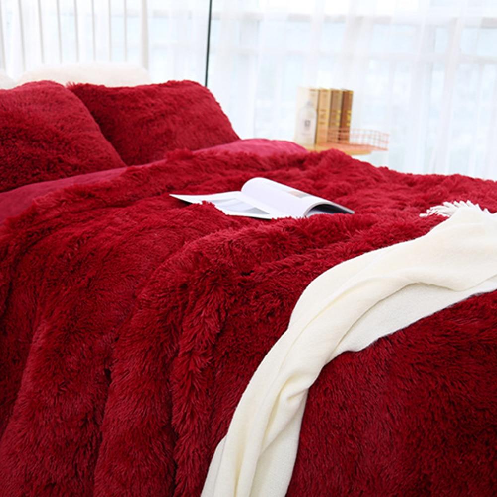80x120cm Soft Fluffy Shaggy Warm Bed Sofa Bedspread Bedding Sheet Throw Blanket-2
