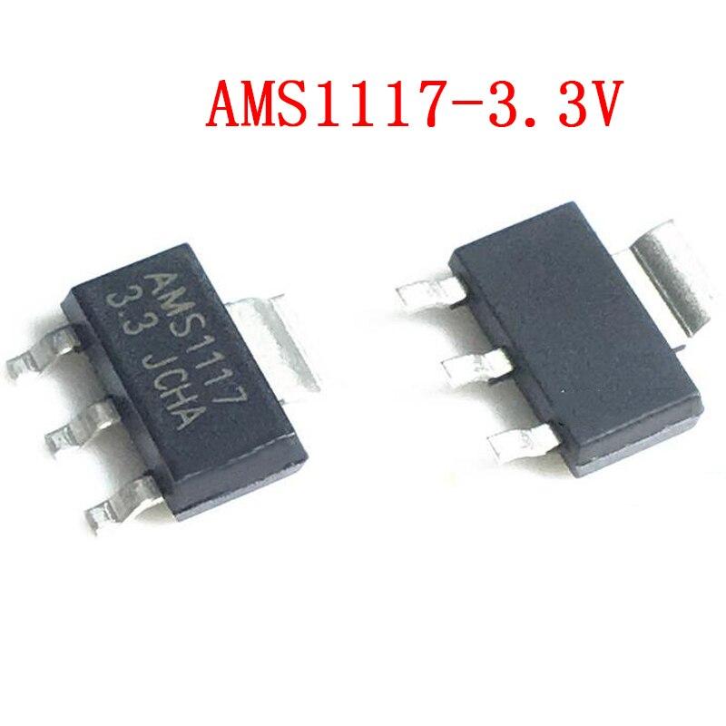 50 pces AMS1117-3.3 sot223 AMS1117-3.3V sot-223 regulador de tensão smd novo e original ic