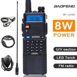 Image 1 - Baofeng UV 5R 3800mAh ווקי טוקי 5W Dual Band נייד רדיו UHF 400 520MHz VHF 136 174MHz UV 5R שתי דרך רדיו נייד