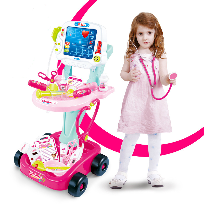 Infant Shining Simulation Doctor Toy >3 Years Pretend Play Toy 17PCS Parent-child Interaction Set Imitating Doctor Puzzle Toy