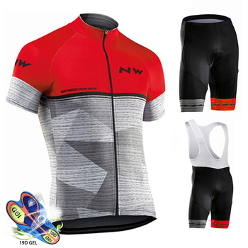 Northwave Nw Cycling Jersey Kit Pro Breathable MTB Bicycle Cycling Clothing Mountain Bike Wear Clothes Maillot Ropa Ciclismo Set
