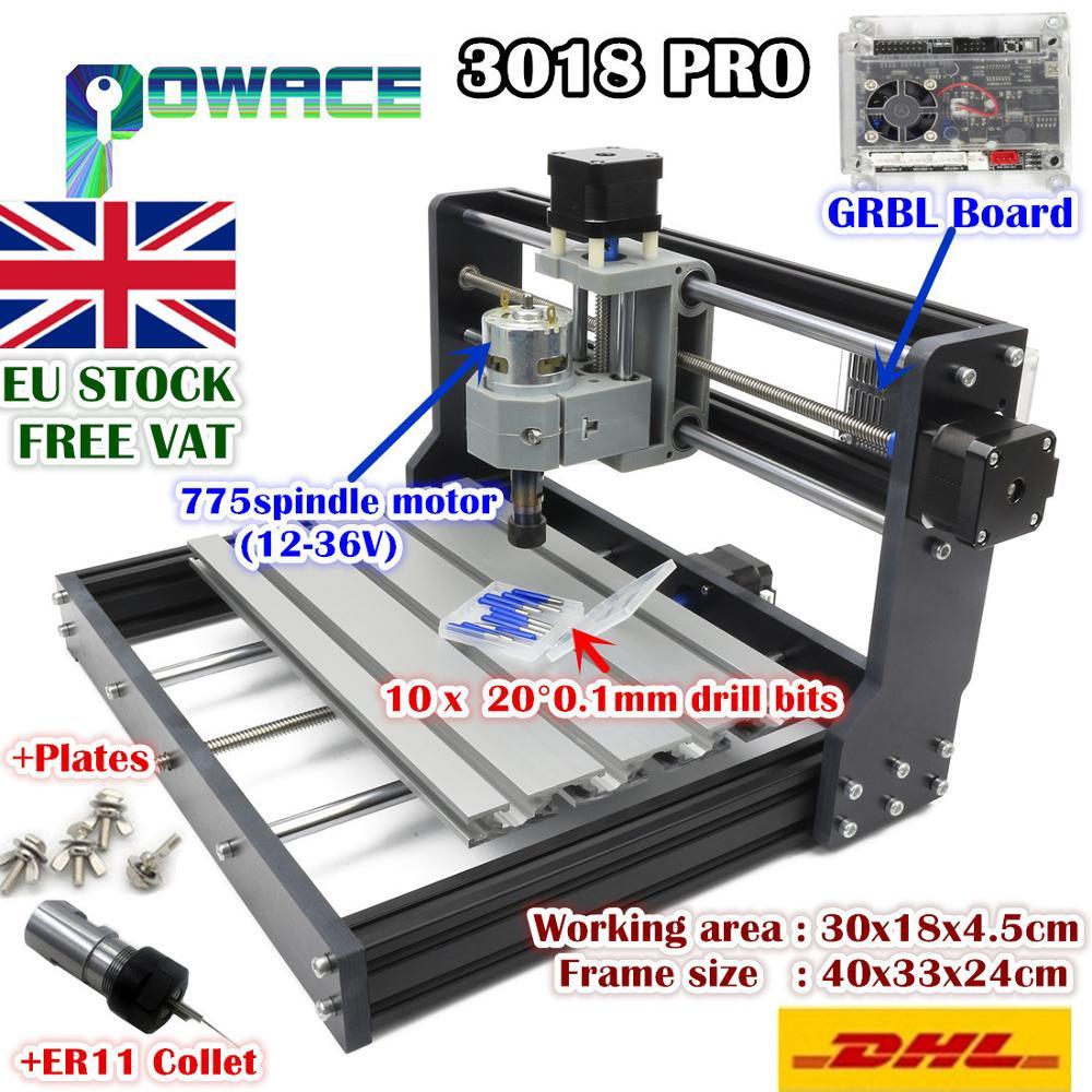 [ЕС бесплатная НДС] 3-Axis 3018 Pro USB DIY Мини ER11 шпинделя GRBL Управление PCB Лазерная гравировка фрезерный станок для деревообработки
