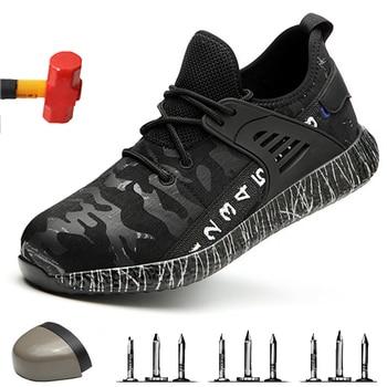 Botas de trabajo indestructibles antideslizantes; Zapatos de trabajo desodorantes resistentes al desgaste al aire libre; Zapatos de seguridad anti-golpes 2019
