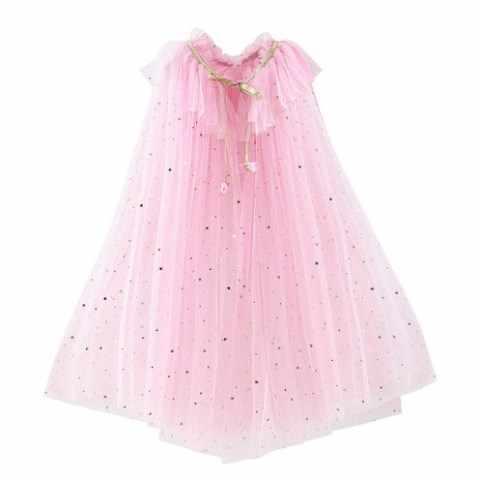 ילדה נסיכת מסיבת תלבושות שרוך נצנצים טול קייפ גלימת ליל כל הקדושים להתלבש מעטפת נסיכת אלזה יסמין סופיה ציאן