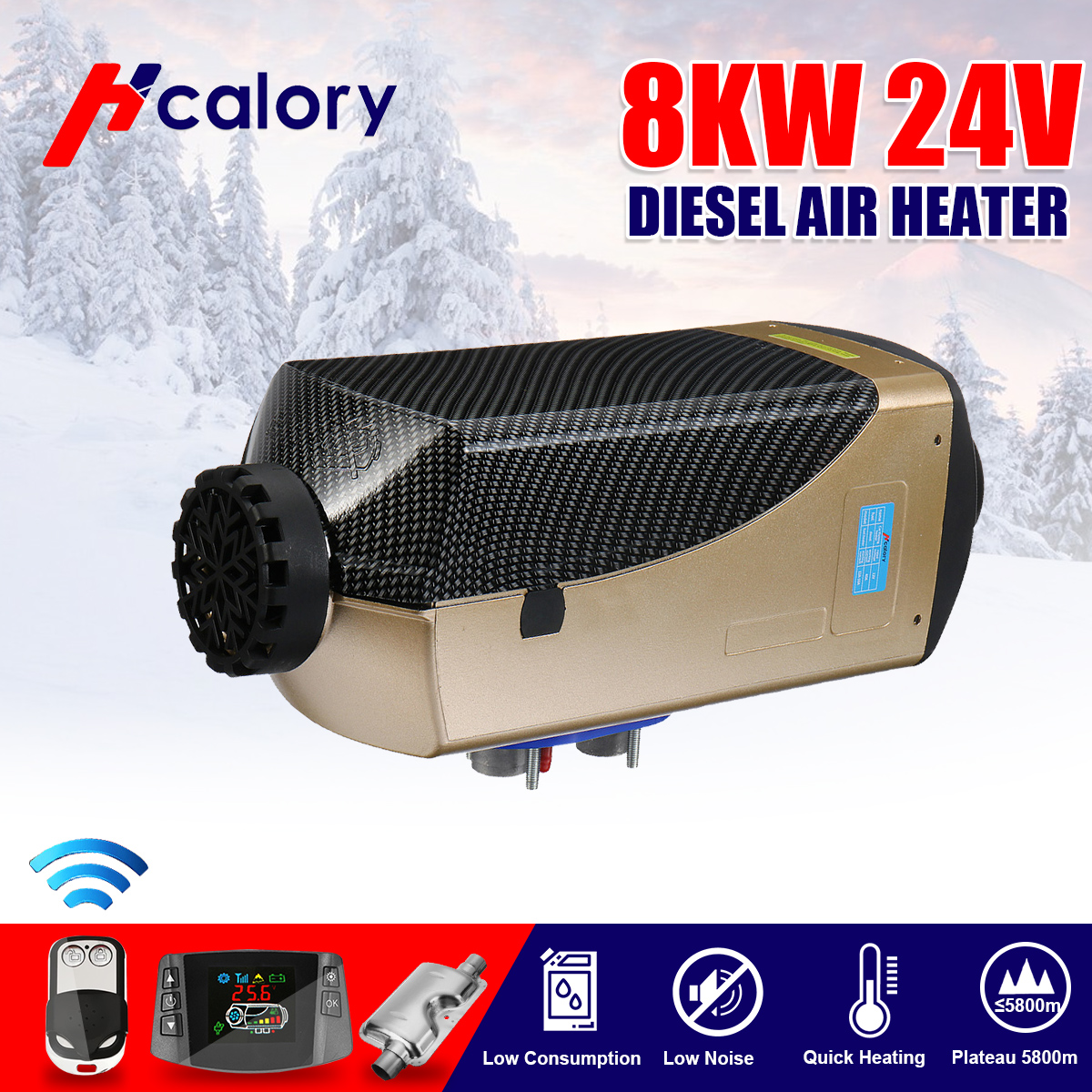 us $122 4 20% off hcalory 12v 24v 8000w lcd switch degreaser wire harness split machine parking heater car boat rv motorhome trailer truck on fifth wheel wire harness motorhome wire harness #8