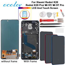 ocolor AMOLED For Xiaomi Redmi K20 K20 Pro LCD Display And Touch Screen With Frame + Film + Tools + Glue For Xiaomi Mi 9T 9T Pro