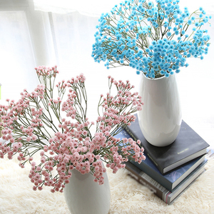 Image 4 - Artificial Flowers For Decoration Red Bird Berry Spray Stem Of Faux Berries Autumn/Christmas Fake Flowers Fall Decoration Home