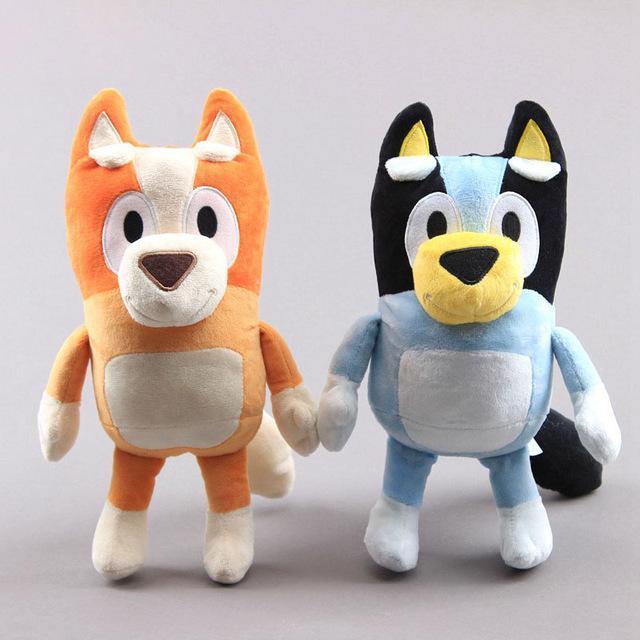 2 шт./лот, 28 см, мягкая собака, бинго, Семейные плюшевые куклы, мультяшный фильм, игрушка Bluey, бинго, мягкие игрушки-животные, подарки для детей