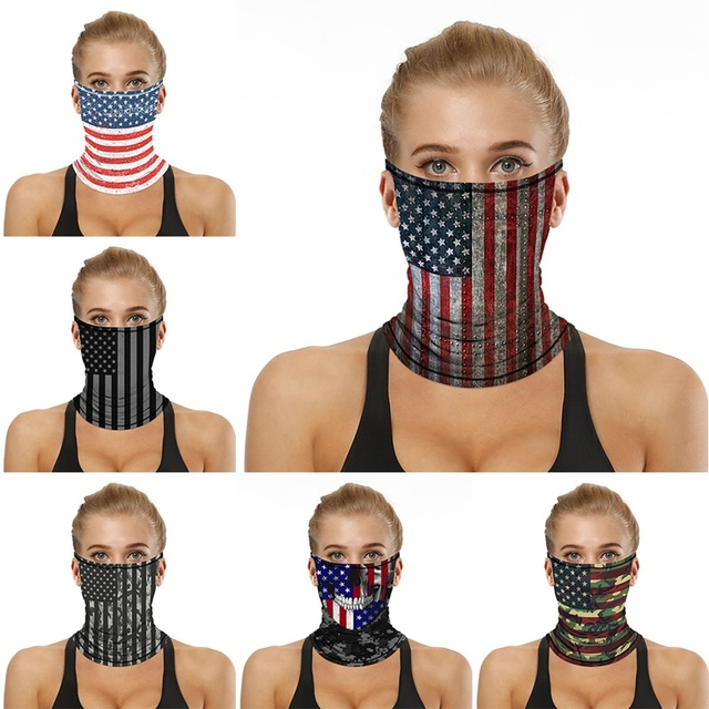 Multifunction Face Coverings American flag outdoor sports breathable mask cool and comfortable scarf magic turban Unisex 5