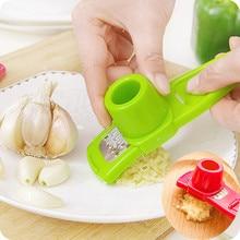 Home Kitchen Garlic Slicer Multifunction Stainless Steel Pressing Cutter Shredder Tools Press