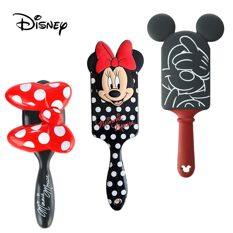 Disney Prinzessin Gefrorene Alice 3D Kamm Baby Mädchen Haar Pinsel Mickey Minnie Maus Kinder Haar Pinsel Cartoon Kamm Weihnachten Geschenk