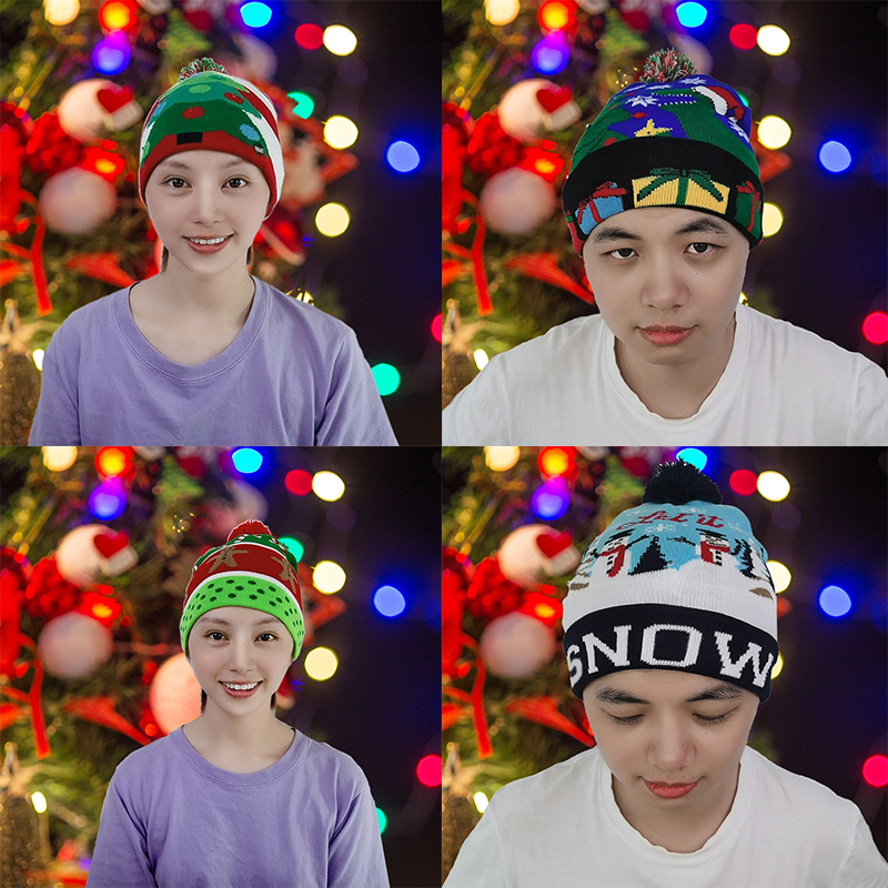 LED Christmas Knit Hat