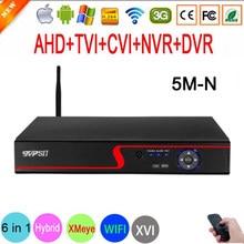Xmeye – détection de visage par panneau rouge, Audio, 5M-N Hi3521D H265 + 16CH 16 canaux 8 canaux 6 en 1 hybride NVR CVI TVI AHD WIFI CCTV DVR