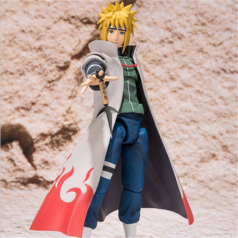 Anime Naruto Shippuden Namikaze Minato SHF Figure Minato Namikaze Action Figure PVC Collectible Model Toy Doll Gift 14cm