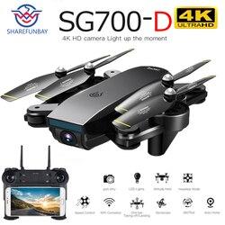 Drone SG700D 4K drone HD podwójny aparat WiFi transmisja fpv optyczny przepływ stabilna wysokość zdalnie sterowany quadcopter dron z kamerą dron w Helikoptery RC od Zabawki i hobby na