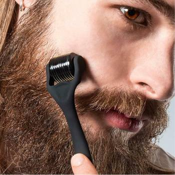 4 Pcs/set Men Beard Growth Kit Hair Growth Enhancer Thicker Oil Nourishing  Leave-in Conditioner Beard Grow Set with Comb 4