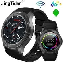 """Mới DM368 Plus Android 7.1 4G Đồng Hồ Thông Minh MTK6739 Quad Core Ram 1GB Rom 16GB 1.3 """"IPS Màn Hình Tròn Bluetooth Wifi GPS Smartwatch"""