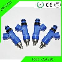 (4 uds) 16611-AA720 inyector de combustible para Subaru WRX STI Legacy GT 16611AA720 16611 AA720