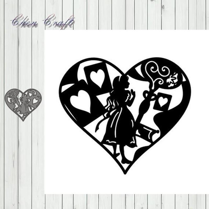 Big Red Heart Beauty Metal Cutting Dies Scrapbooking Steel Craft Die Cuts Paper Art Emboss Card Making Stencil New 2019