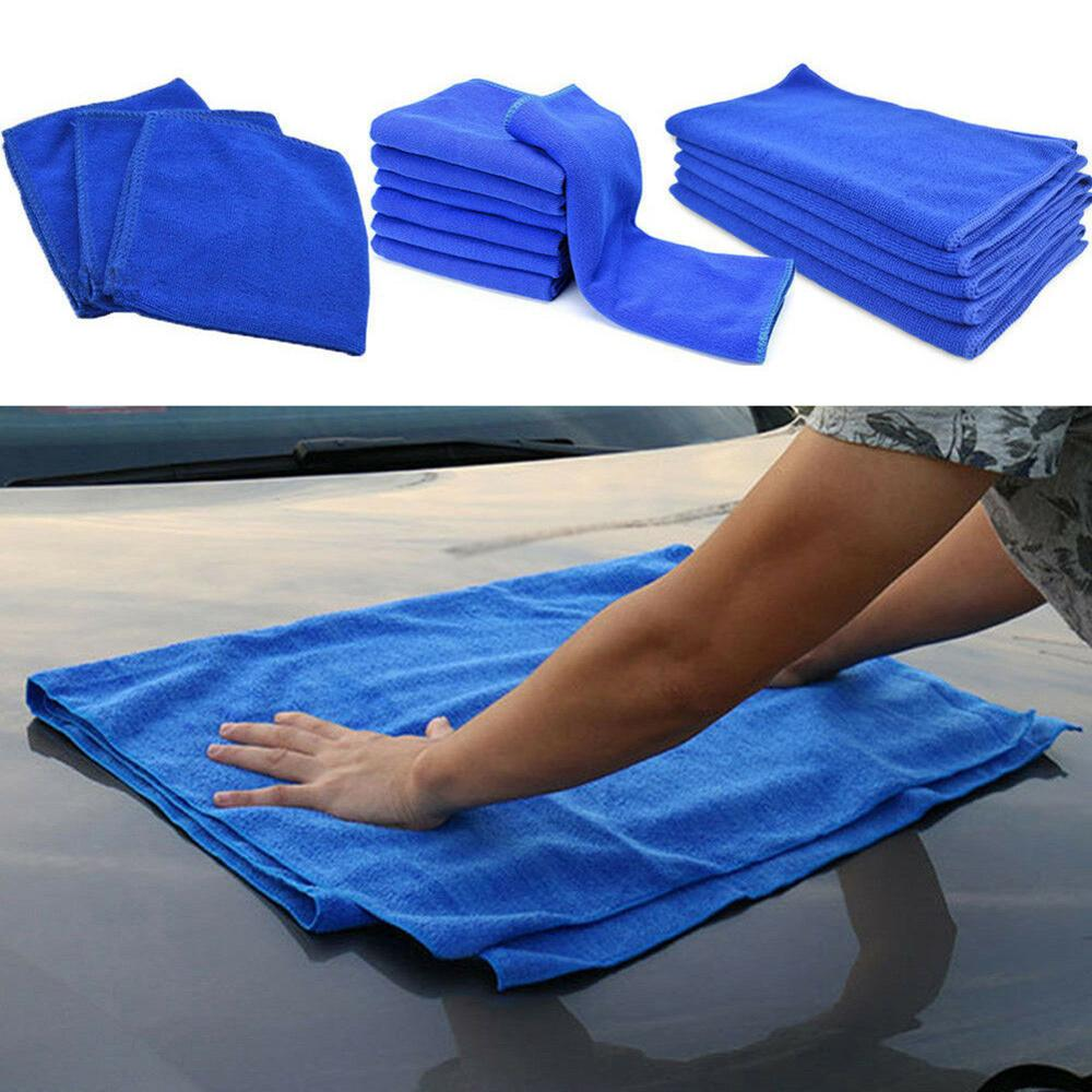 Blue Large Micro Fiber Cleaning Auto Car Detailing Soft Cloths Wash Towel Duster
