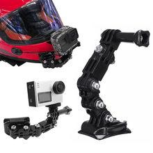 Brazo adhesivo curvo para casco de motocicleta, accesorios de cámara de acción para Xiaomi yi 4K Gopro Hero 8 7 6 5 4 SJCAM sj4000 Eken H9