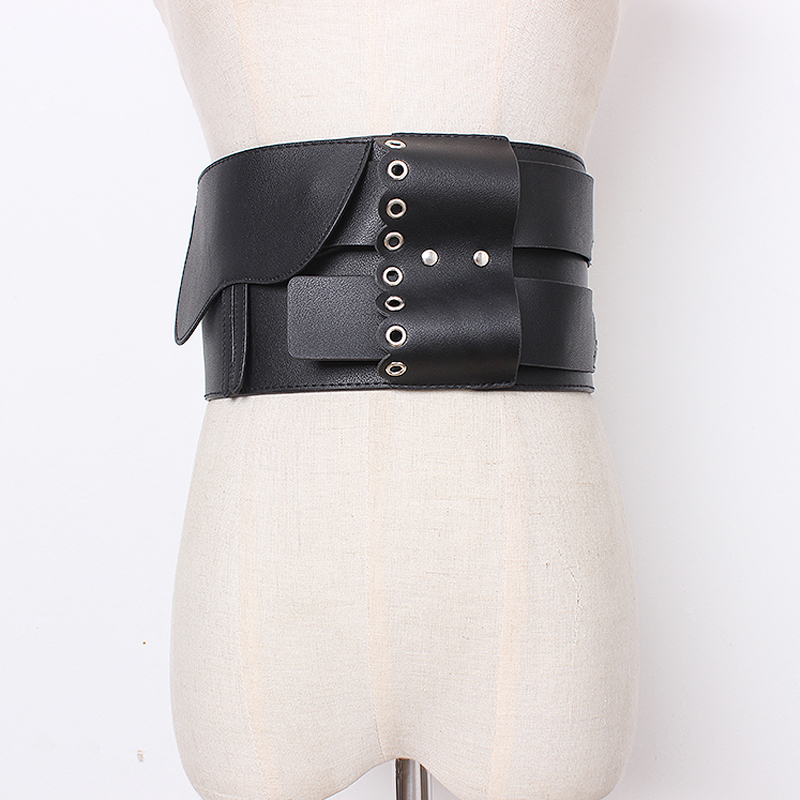 2020 Fashion Wide Corset Belt Women PU Leather Belts For Women High Quality Plus Size Ceinture Femme Designer Cummerbunds Luxury