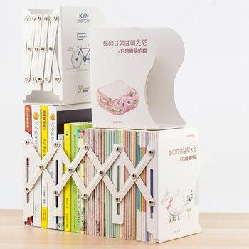 Expandable Bookcase Desktop Bookend Stand Holder Adjustable Book Rack for Kid Child Student Office Book Organizer Bookshelf недорого