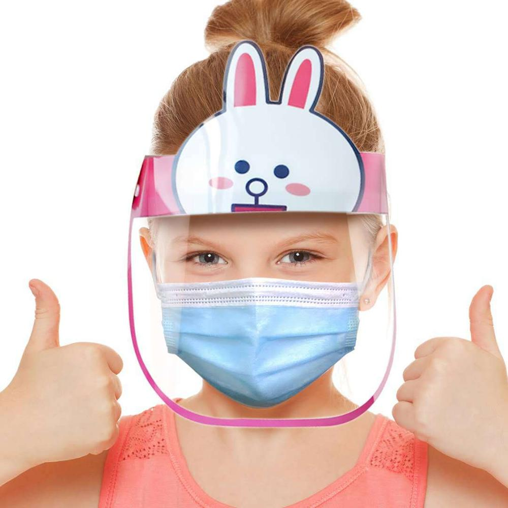 Kids Transparent Mask Full Face Shields Anti-Saliva Mask Anti-Dust Anti-droplet Face Cover Protective Shield For Children Baby