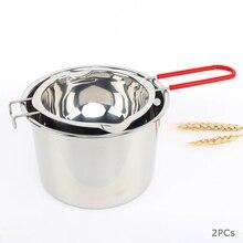 304 двойные котельные горшки из нержавеющей стали с коробкой, шоколадный плавильный горшок, молочная чашка, масло, конфеты, теплее, кондитерские инструменты для выпечки