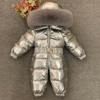 Winter Kids Boy Girls Overalls Hooded Jumpsuit Baby Romper for Newborns Children Infant Winter Snowsuit One Piece Baby Clothes