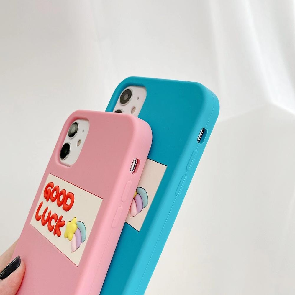 Silicone Smooth Good Luck meteor With Smiling Face Phone Case For iphone6 7 8Plus XR XSMAX 11Pro Buy One Get Corresponding Ring 4