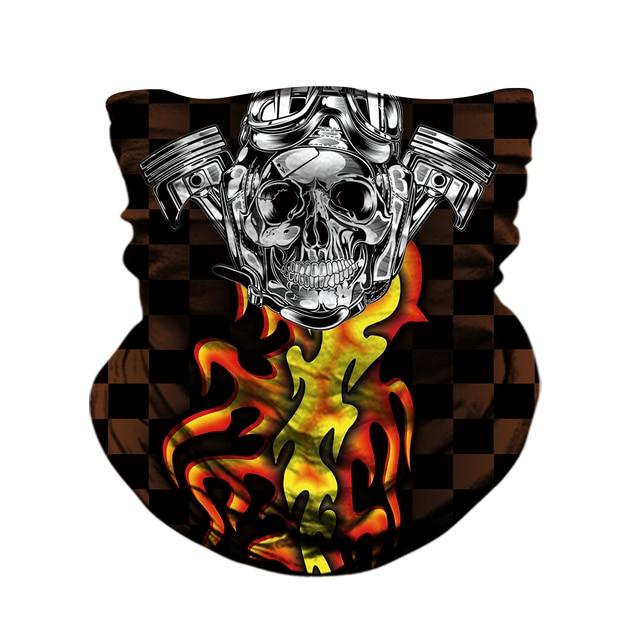 Motorcycle Face Mask Neck Headbands Biker Magic Headscarf Tube Neck Scarves Halloween Scary Mask Festival Skull Masks Skeleton 3