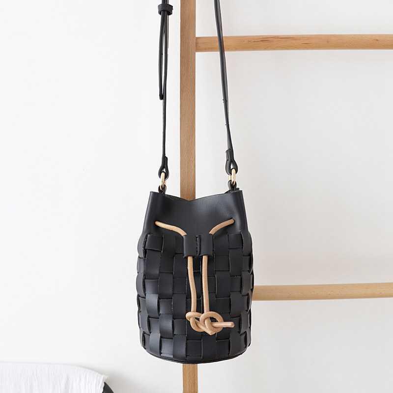 LJL-винтажная модная женская сумка-мешок из искусственной кожи, сумка на плечо, сумка-мессенджер, сумки через плечо, кошельки