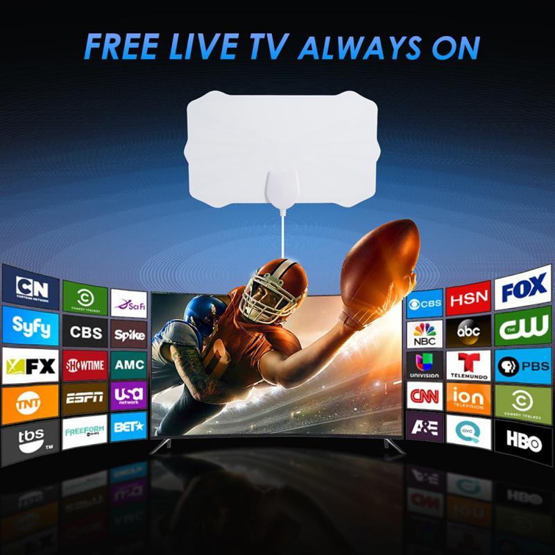 960 Miles TV Antenna Freeview 25DB Digital HDTV Antenna With Amplifier Signal Booster Radius Surf Fox DVB-T2 TV Aerial