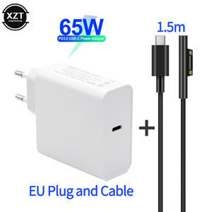 PD USB Type C Charger for Microsoft Surface Pro 6/5/4/3 Go Book Tablet Compatible 15V/12V 4A 3A 65W 45W EU US PD Charging Cable
