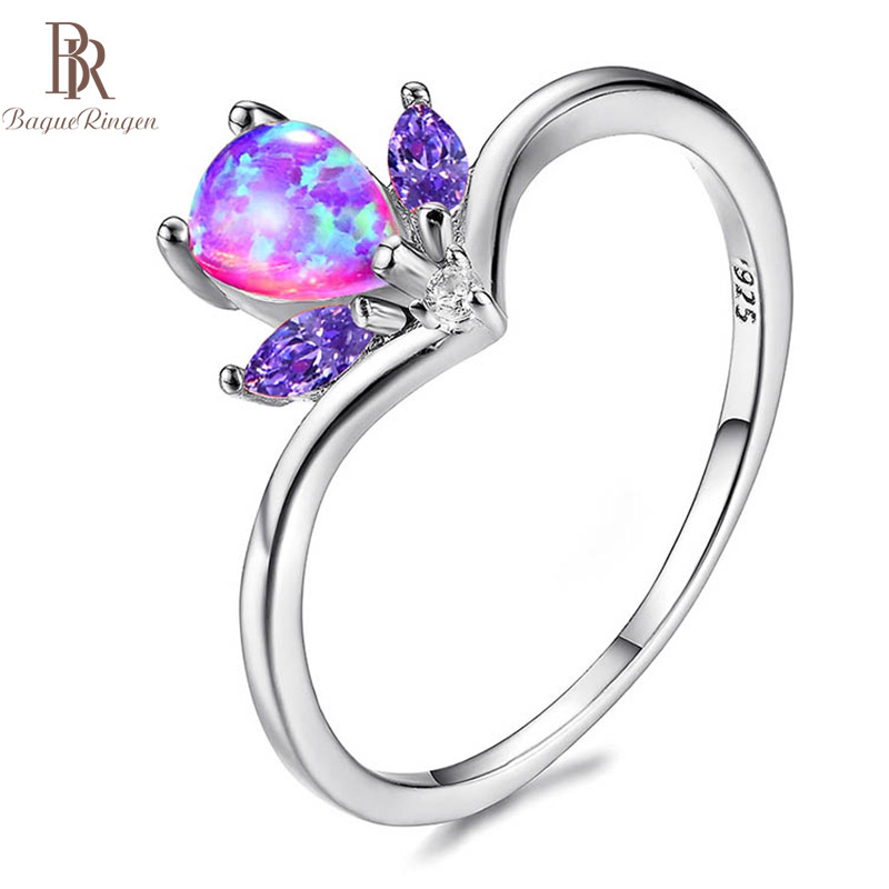 Bague Ringen HOT SALE 925 Silver Jewelry Rings For Women Exquisite Concise Heart Flower Zircon Ring Anniversary Birthday Gifts