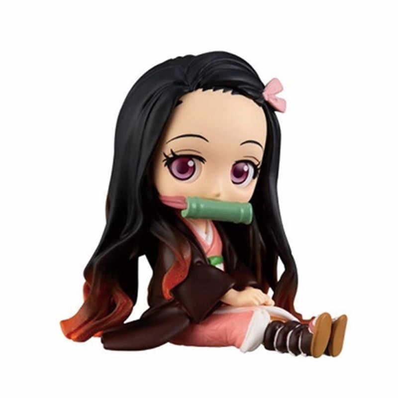 3Pcs Anime Model Patung Demon Slayer Kimetsu Tidak Yaiba Q Posket Kamado Tanjirou Kamado Nezuko Agatsuma-gun Zenitsu Angka Mainan