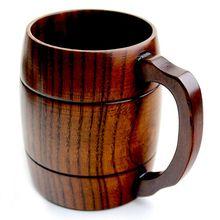 Деревянная кружка для пива, молока, кофе, напитков, свадебный подарок