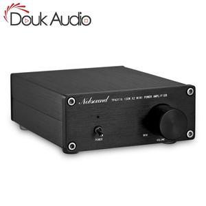 Image 1 - Douk オーディオ 200 ワットミニハイファイ TPA3116D2 デジタルパワーアンプデュアルチャンネルステレオ音楽ホームオーディオアンプ