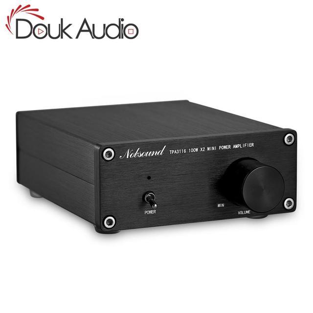 Douk オーディオ 200 ワットミニハイファイ TPA3116D2 デジタルパワーアンプデュアルチャンネルステレオ音楽ホームオーディオアンプ