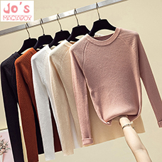 Autumn-Winter-Knitted-Women-Sweaters-And-Solid-O-Neck-Long-Sleeve-Pullovers-Sweet-Sueter-Mujer-Tops