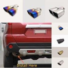 Silenciador de punta de tubo de escape para coche Nissan x-trail xtrail T32/Rogue 2008 2009 2010 2011 2012 2013, 1 Uds.