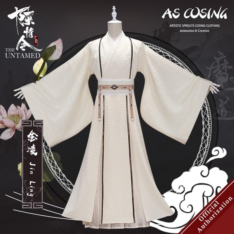 Uwowo TV Series Mo Dao Zu Shi The Untamed Jin Ling Cosplay Costume Jin Rulan Ancient Clothing Cosplay Men
