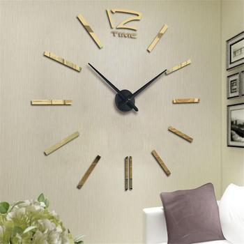 Modern Design Mini DIY Large Wall-Clock Sticker Mute Digital 3D Wall Big Clock Living Room Home Office Decor Christmas Gift 2