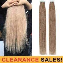 Лента для наращивания волос MRSHAIR, каштановый, коричневый № 8, 100% натуральные волосы, не Реми 20 шт./компл., клей для наращивания кожи