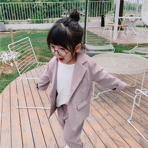 Image 3 - Baby Girl Casual Blazer Jackets Sets 2019 Autumn New Toddler Outfits Kids Girls Long Sleeve Blazer Coat+skirt/pants Suits 2 7Y