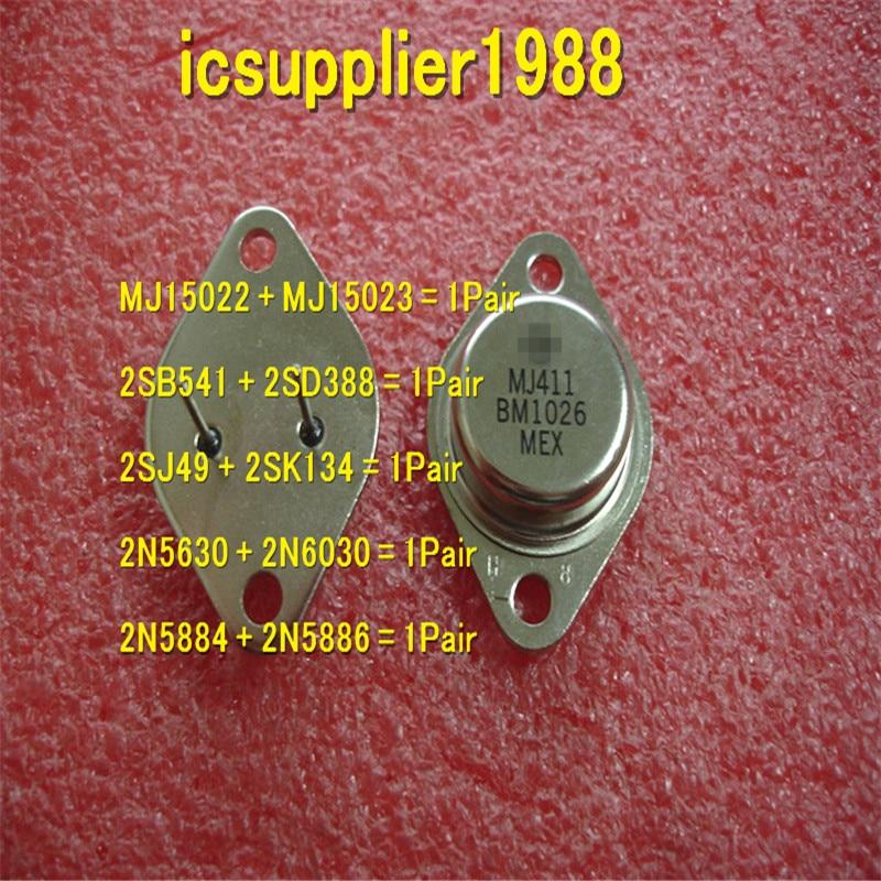 MJ15022+MJ15023, 2SB541+2SD388, 2SJ49+2SK134, 2N5630+2N6030, 2N5884+2N5886, All Are 1pcs+1pcs=Pair