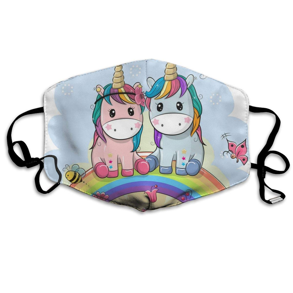 Mouth Mask Rainbow Unicorn Print Masks - Breathable Adjustable Windproof Mouth-Muffle, Camping Running For Women And Men